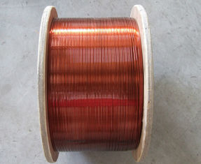 Chiny Class A Rectangular / Flat Enamelled Copper Wire 200 Degree For Transformers fabryka
